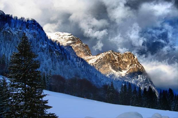 iarna sinaia zapada poiana stanii