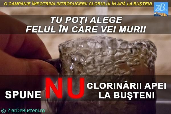 Campania - Spune NU clorinării apei la Bușteni!