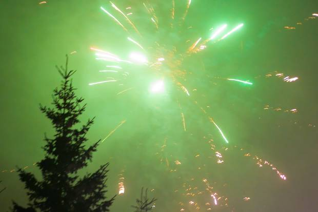 sinaia revelion artificii zapada