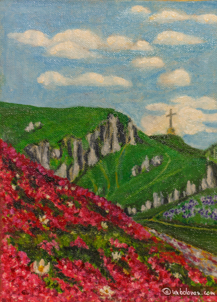 Anotimpuri, Bucegi, picturi in ulei